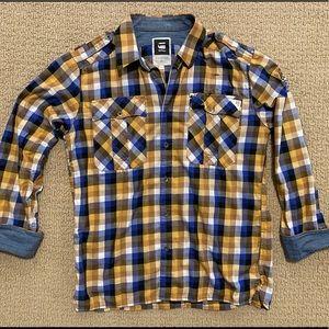 G Star Raw Size XL Plaid Shirt